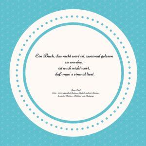 Ein Buch, das nicht wert ist, zweimal gelesen zu werden,ist auch nicht wert, daß man's einmal liest.Jean Paul (1763 - 1825), eigentlich Johann Paul Friedrich Richter, deutscher Dichter, Publizist und Pädagoge